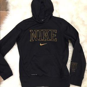 Gold and black nike hoodie